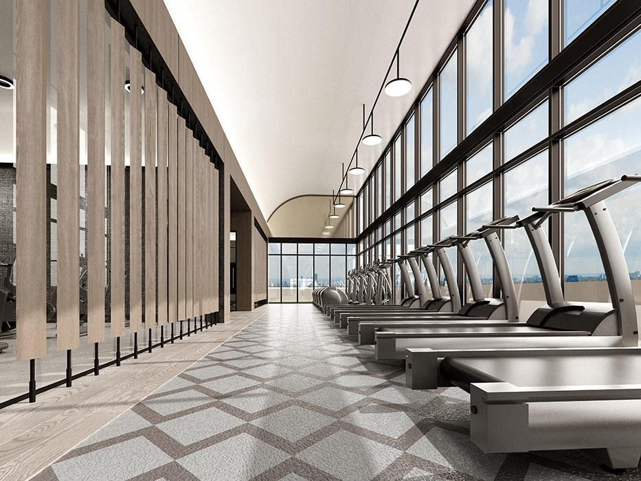 Auberge On The Park - Concept Render of Fitness Room
