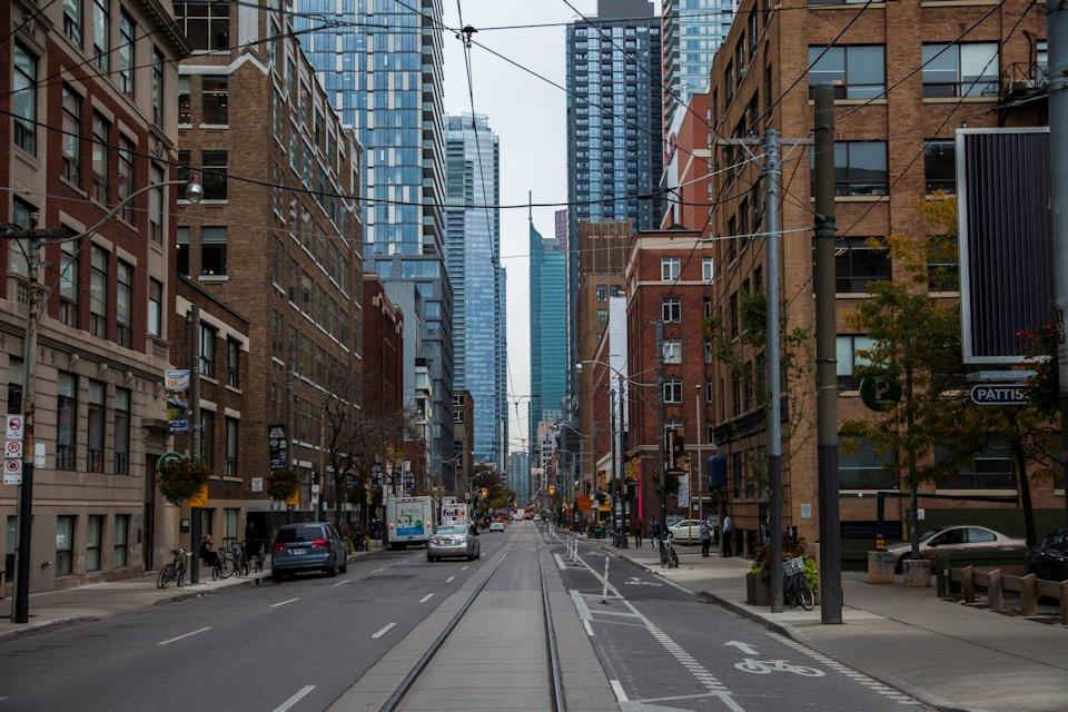 A photo showing Adelaide and Spadina