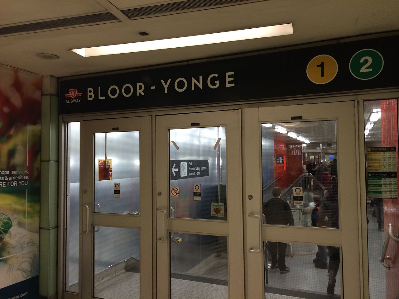 Photo of Bloor and Yonge subway line