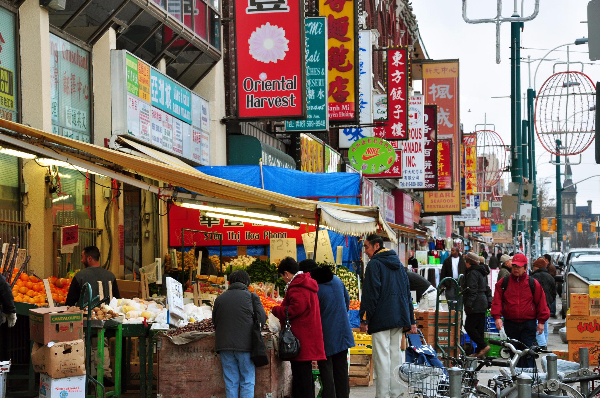 View of Toronto's Chinatown