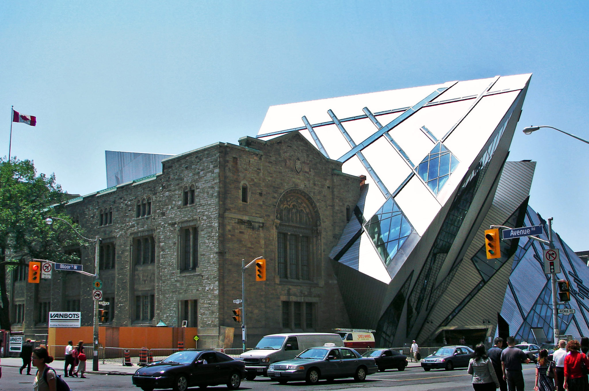 Outside shot of Royal Ontario Museum during daytime