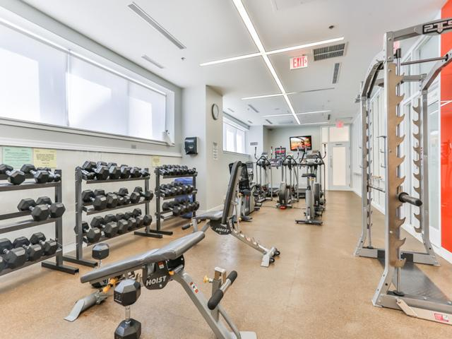 Picture showing fully-equipped condo gym