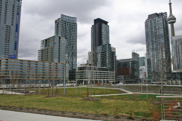 Concord City Place Park at Front and Spadina