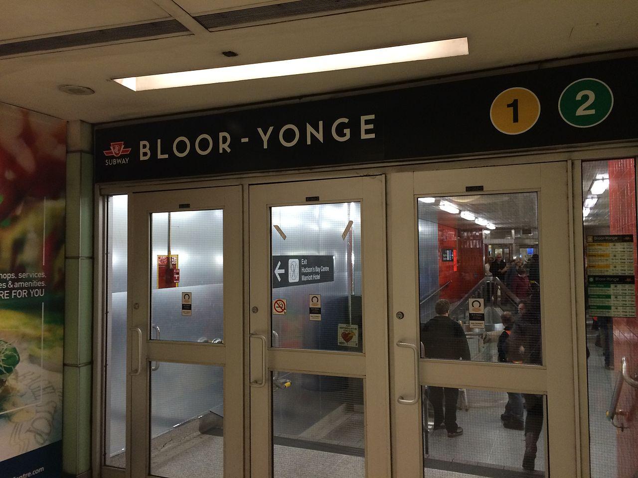 Photo of Bloor and Yonge subway line