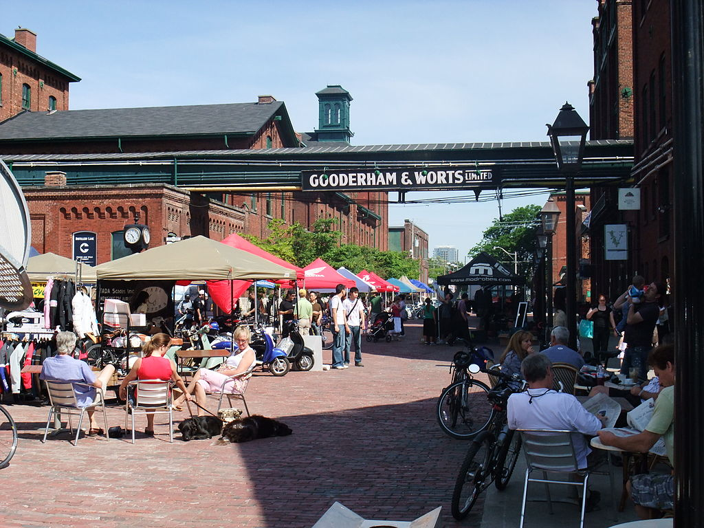 Photo shows Toronto's famous Distillery District