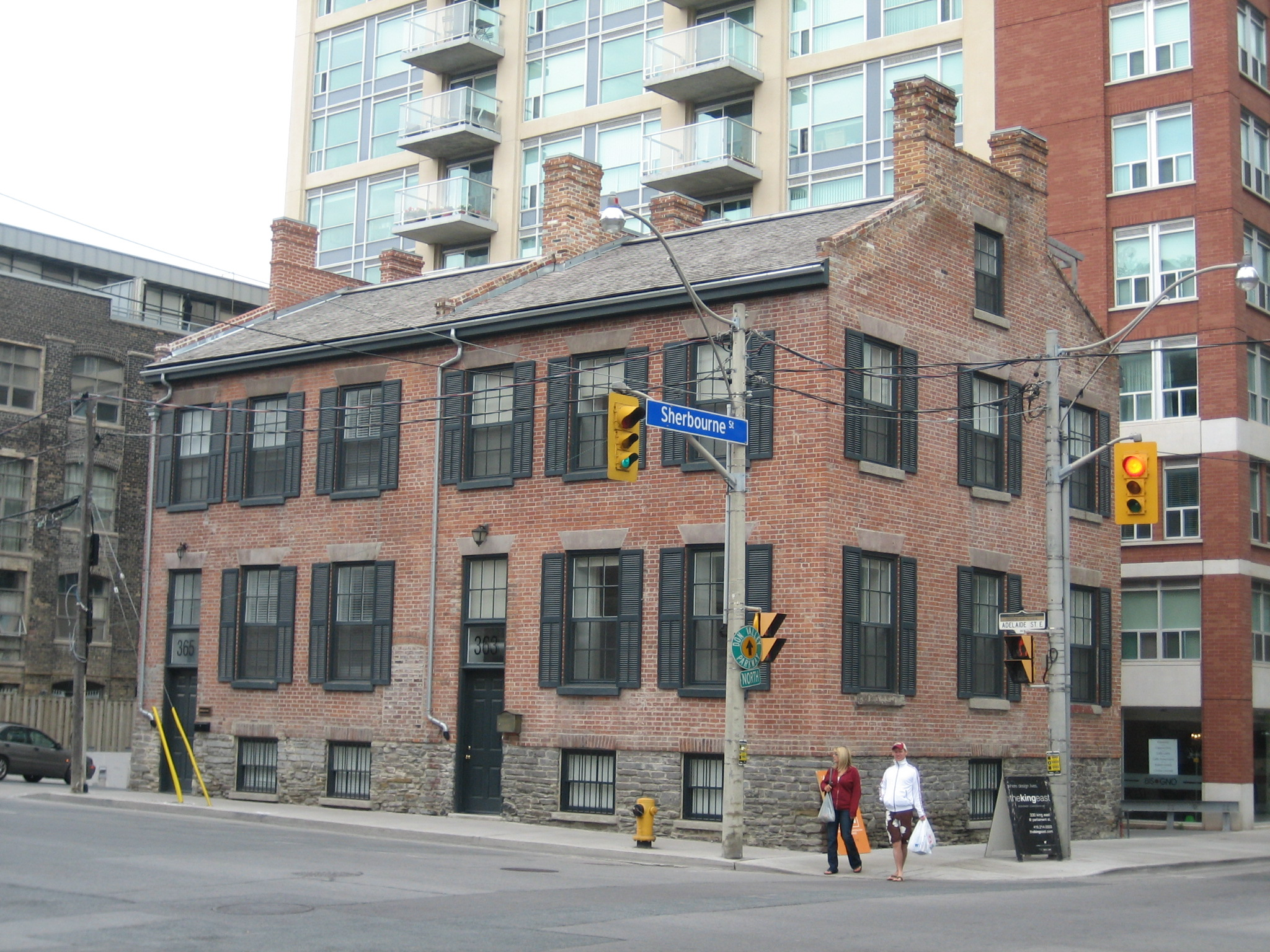 Photo shows Sherbourne and Adelaide Street East