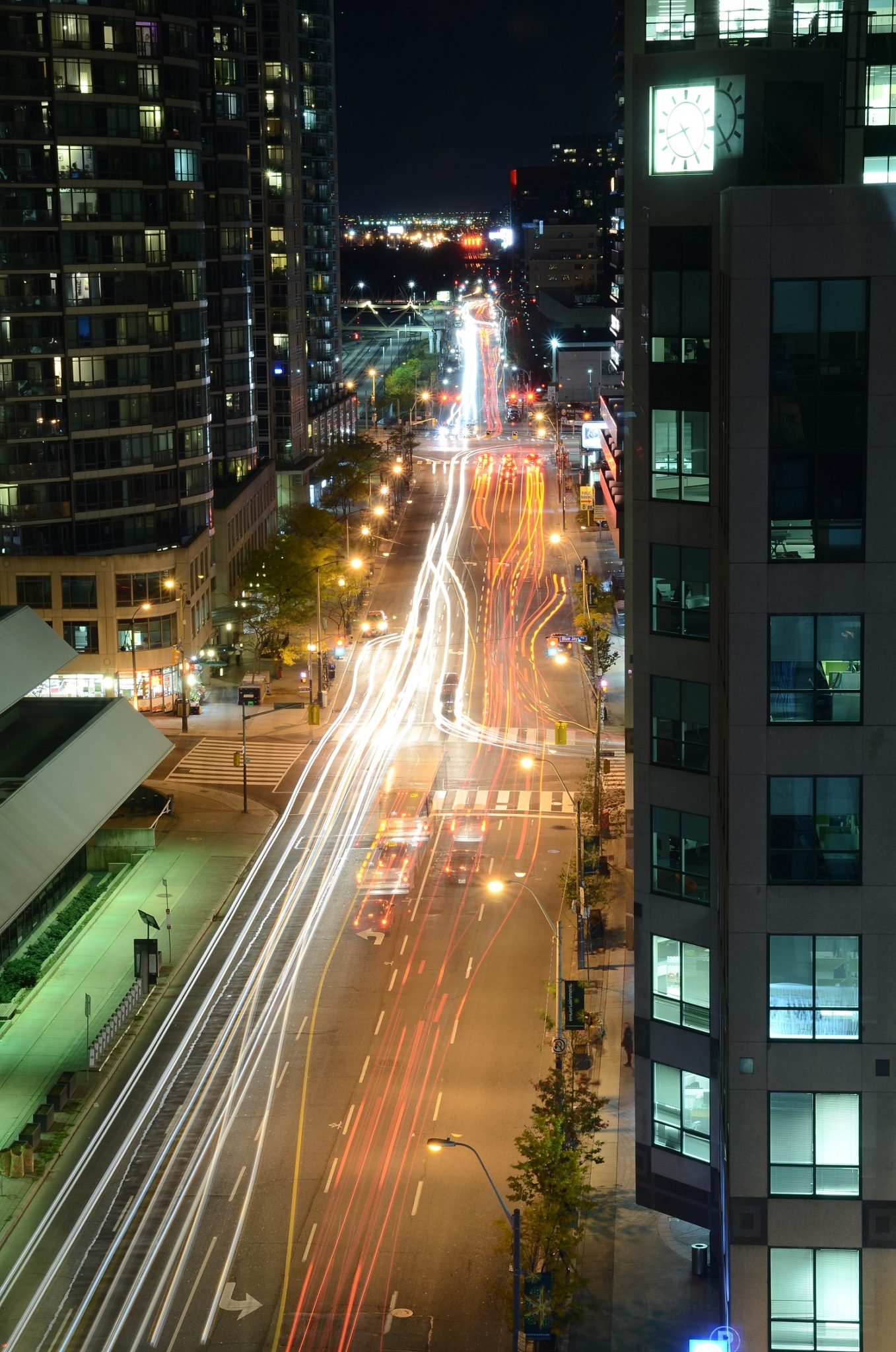 Photo Credit: Adnan Ali Muhammed. Shows the beauty of Toronto's Front Street West, as seen at night