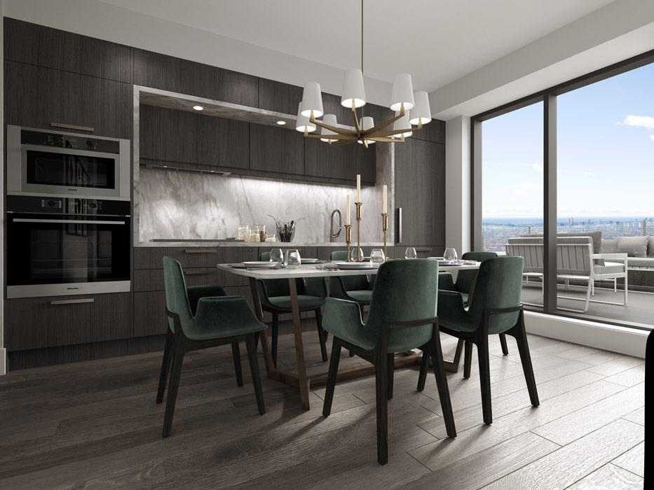 3D image of Auberge II dining room same, less, rather, while, yet, opposite, much as, either as a result, hence