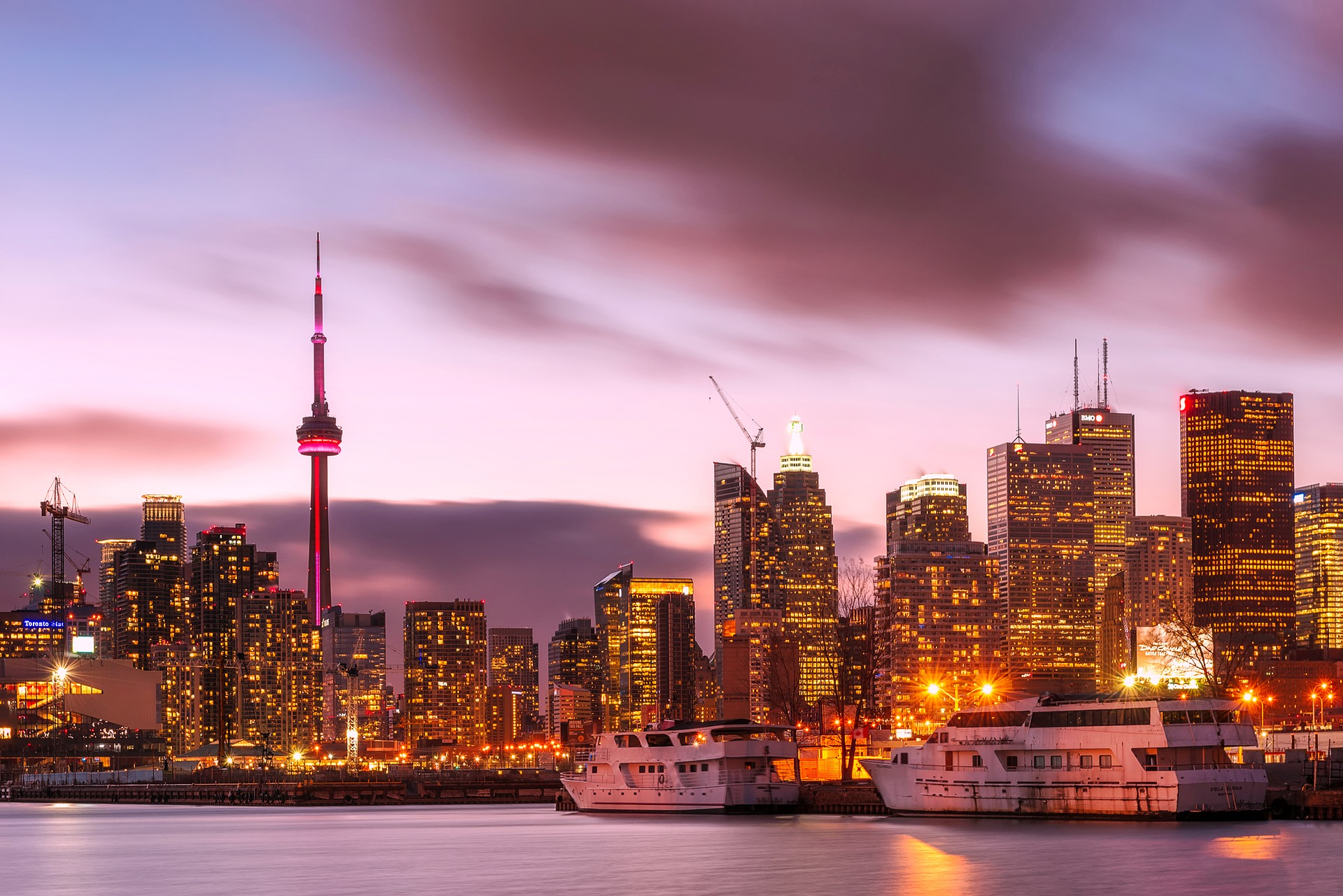 Evening View of Toronto from Lake