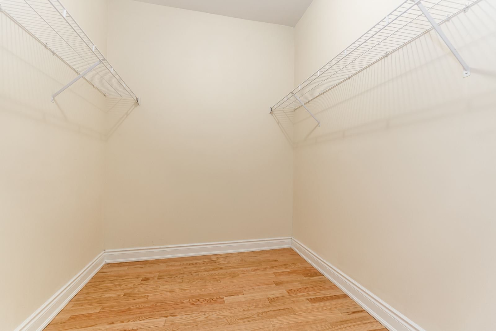 Photo of large walk-in closet