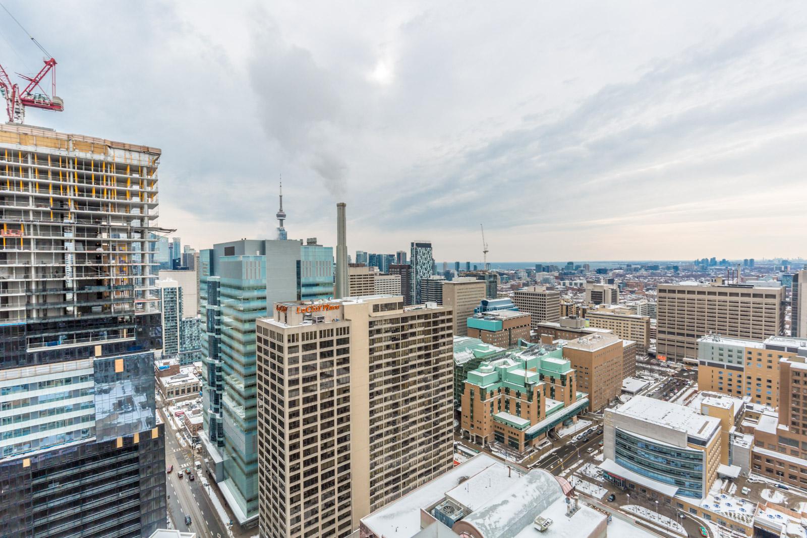 Sky view of Toronto