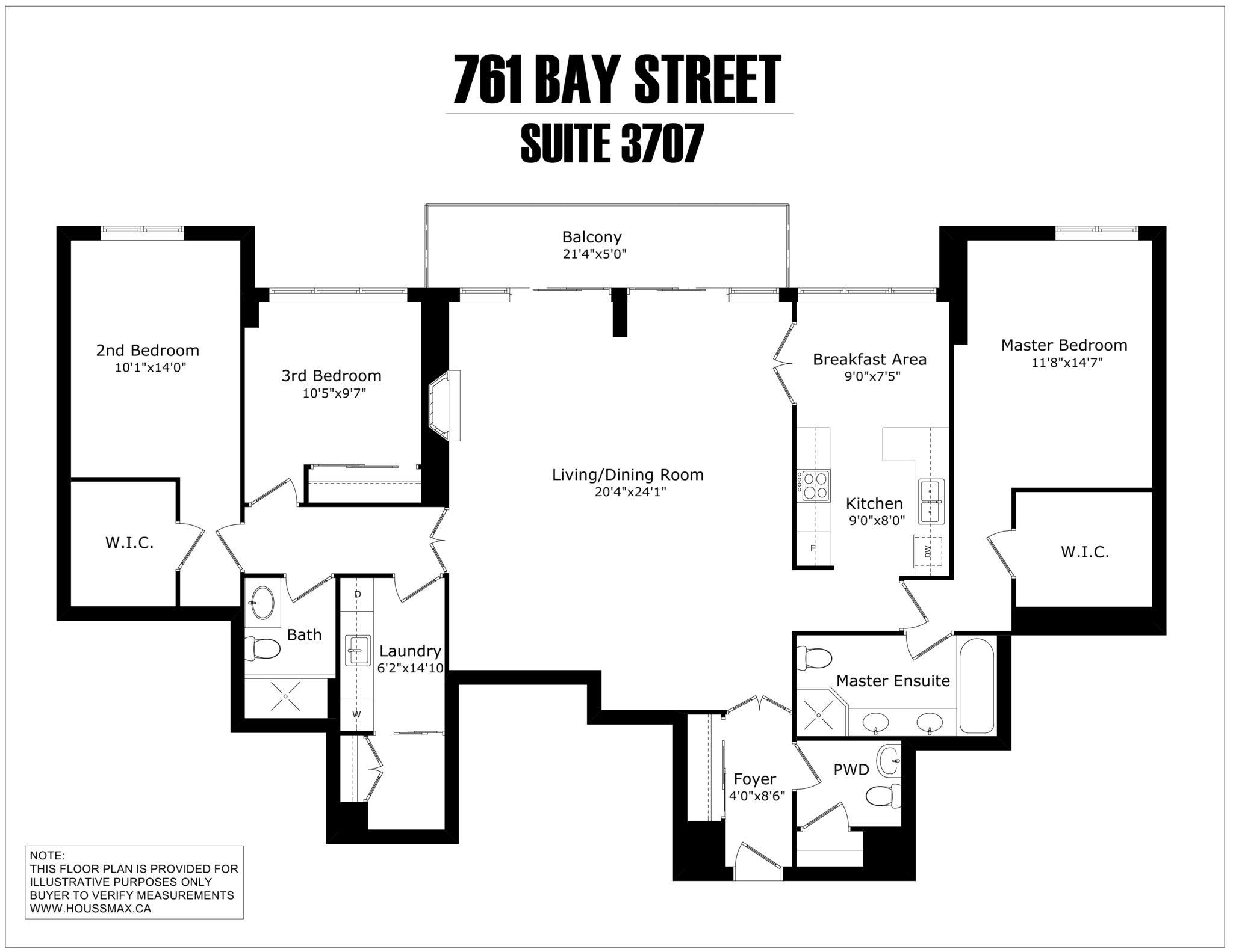 761 Bay Street - Unit 3707 - Floor Plans