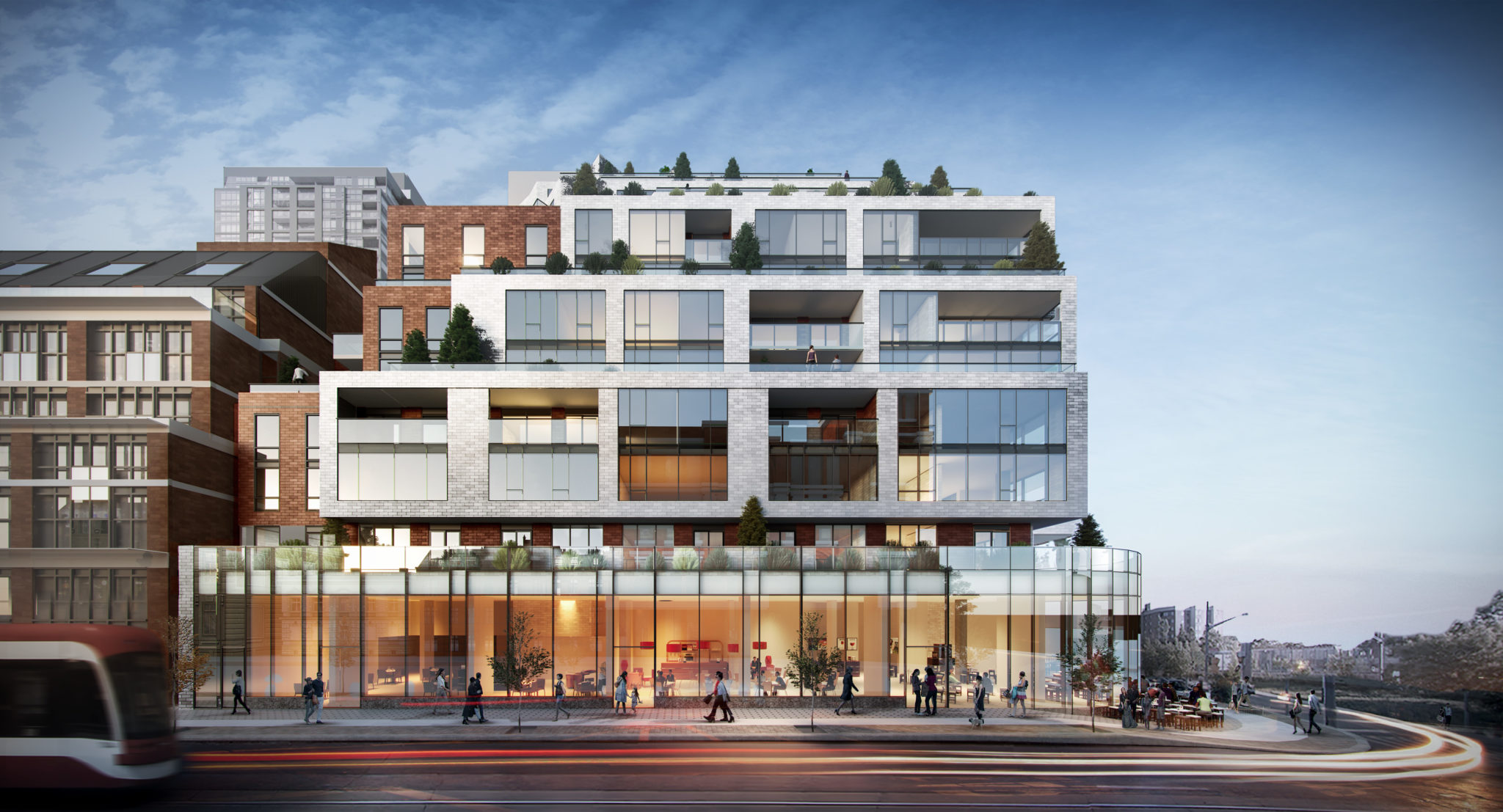 An artistic rendering of 1181 Queen St. West