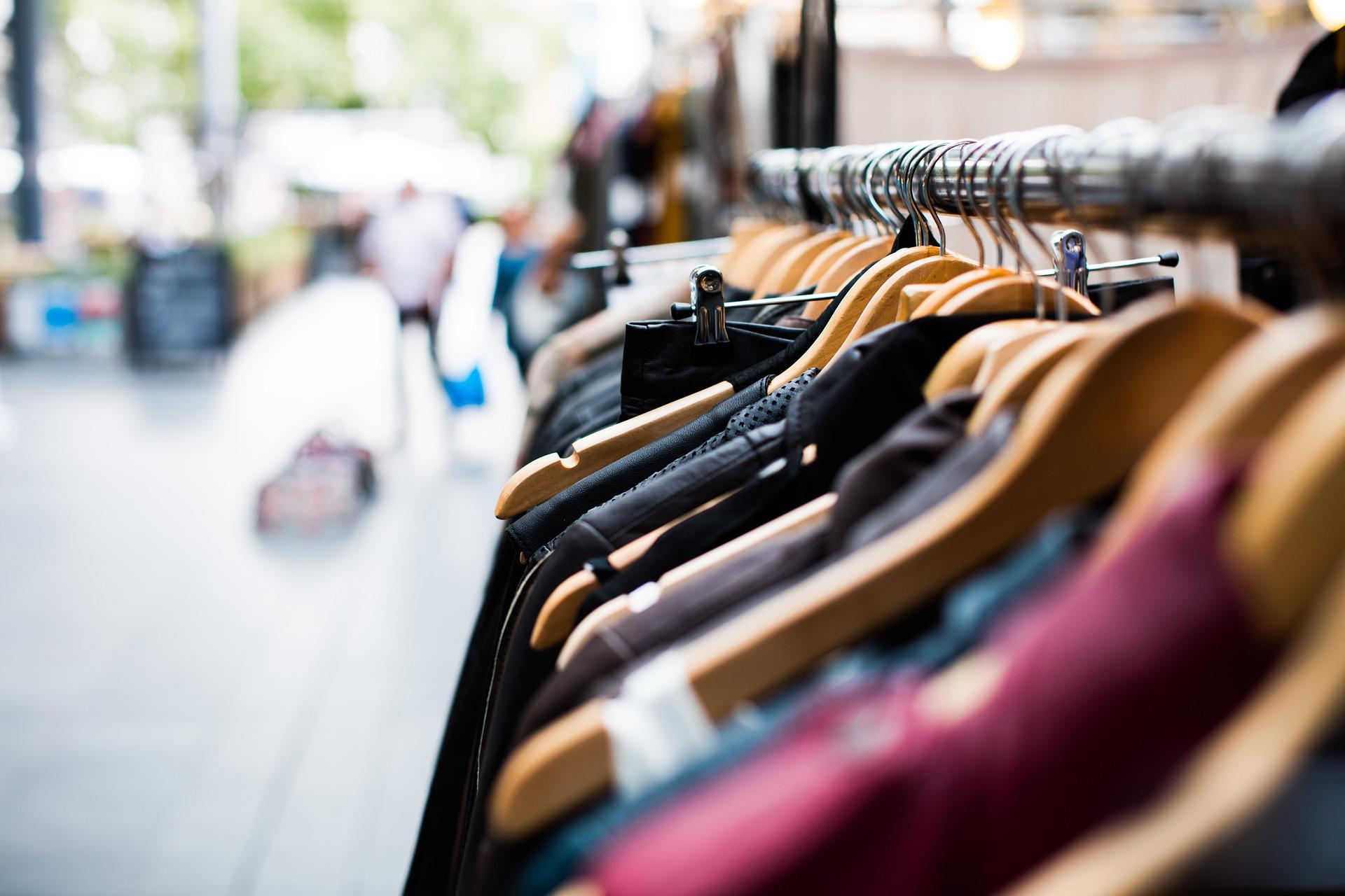 Photo of clothing rack