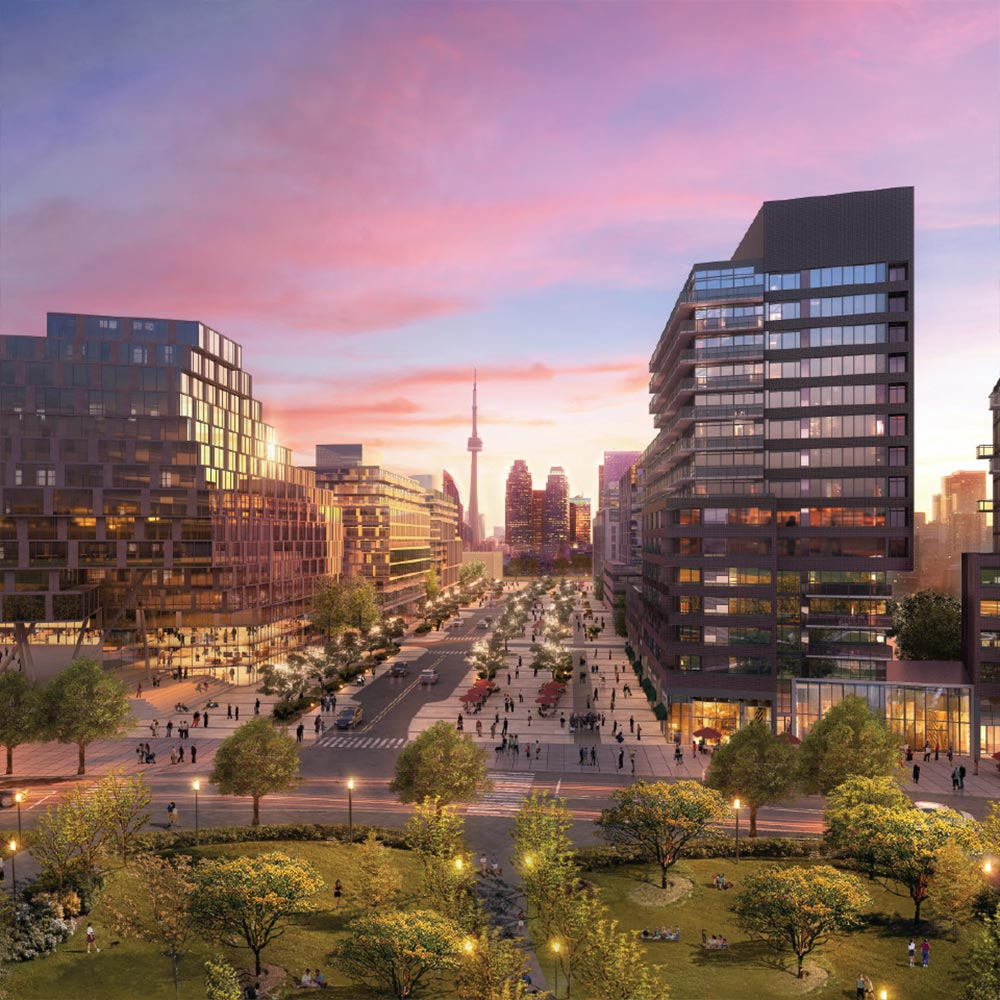 3D picture of the Canary District in Toronto
