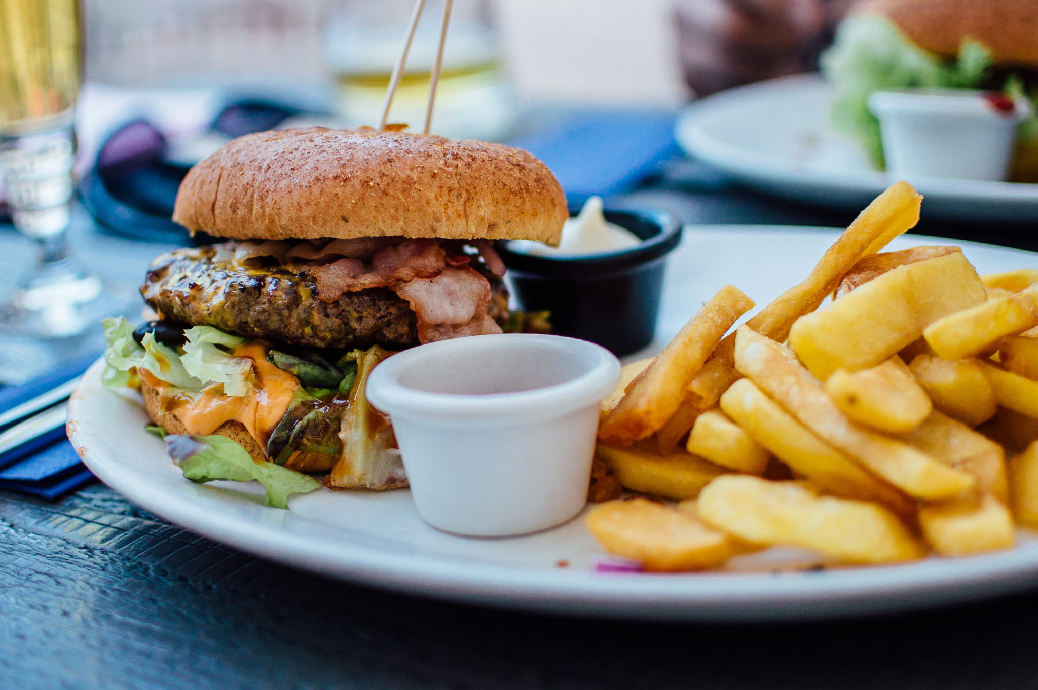 Image of hamburger and fries. Website: Wins Lai, toronto real estate agent