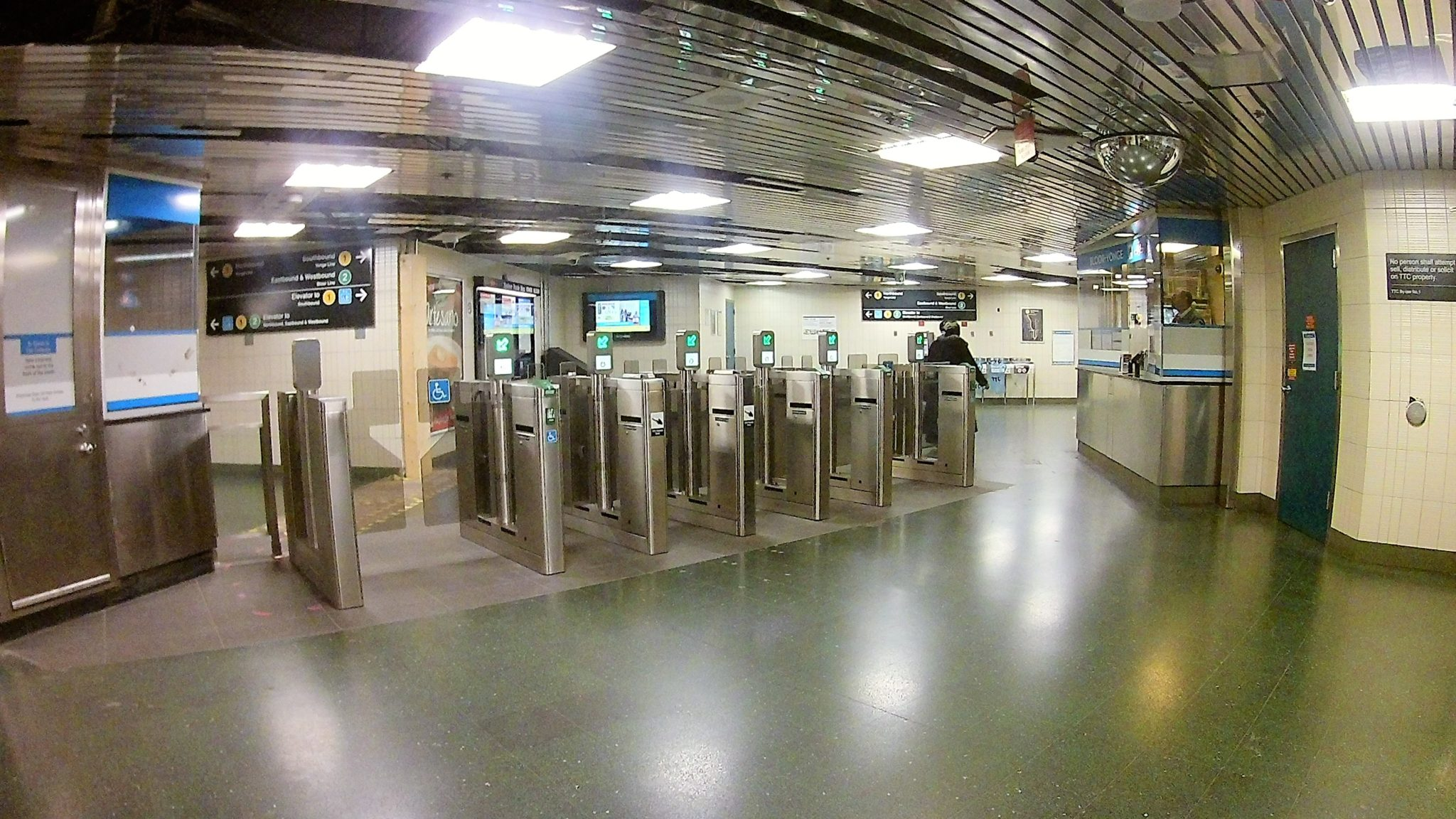 Photo of Toronto subway system.