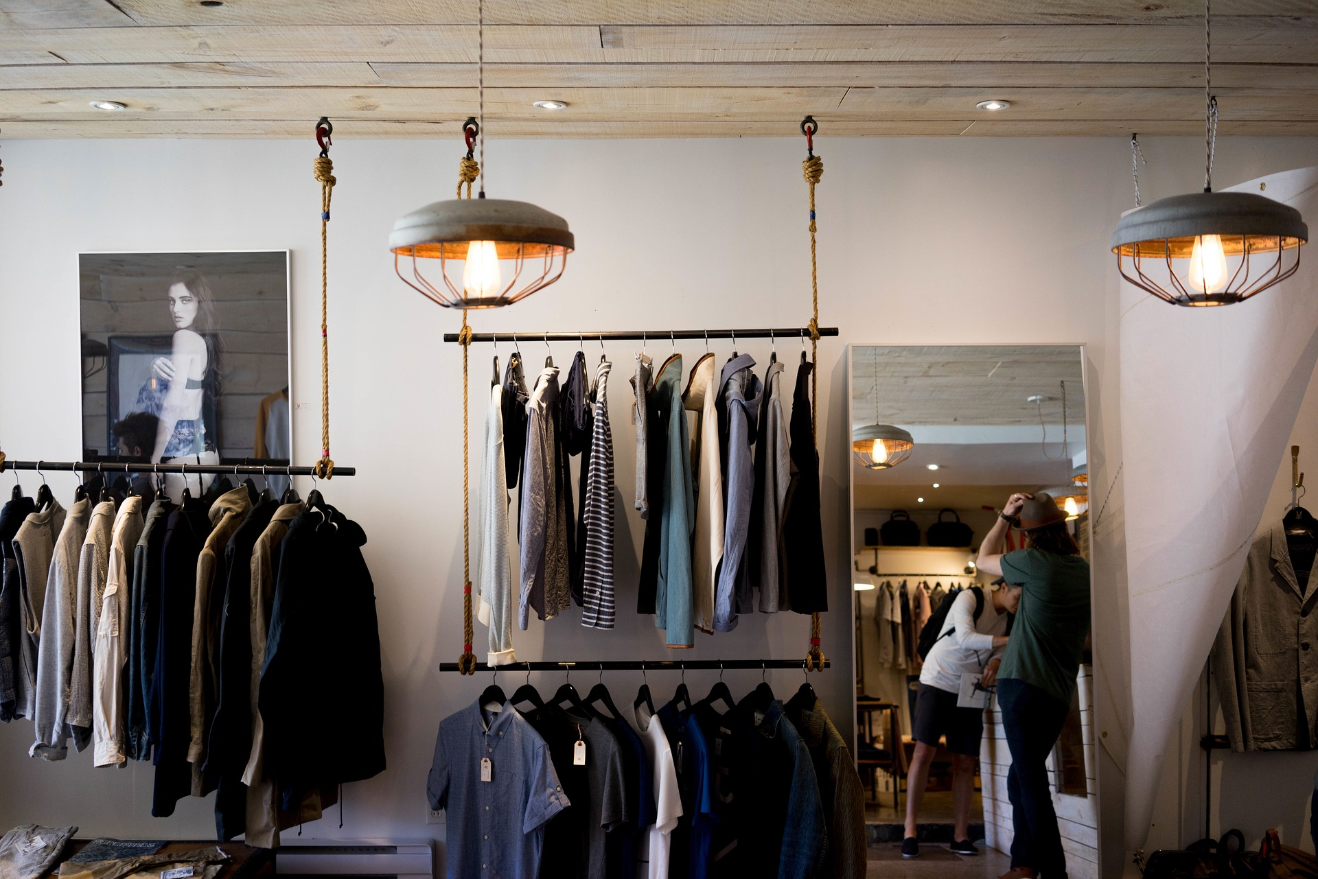 Photo of clothing store.