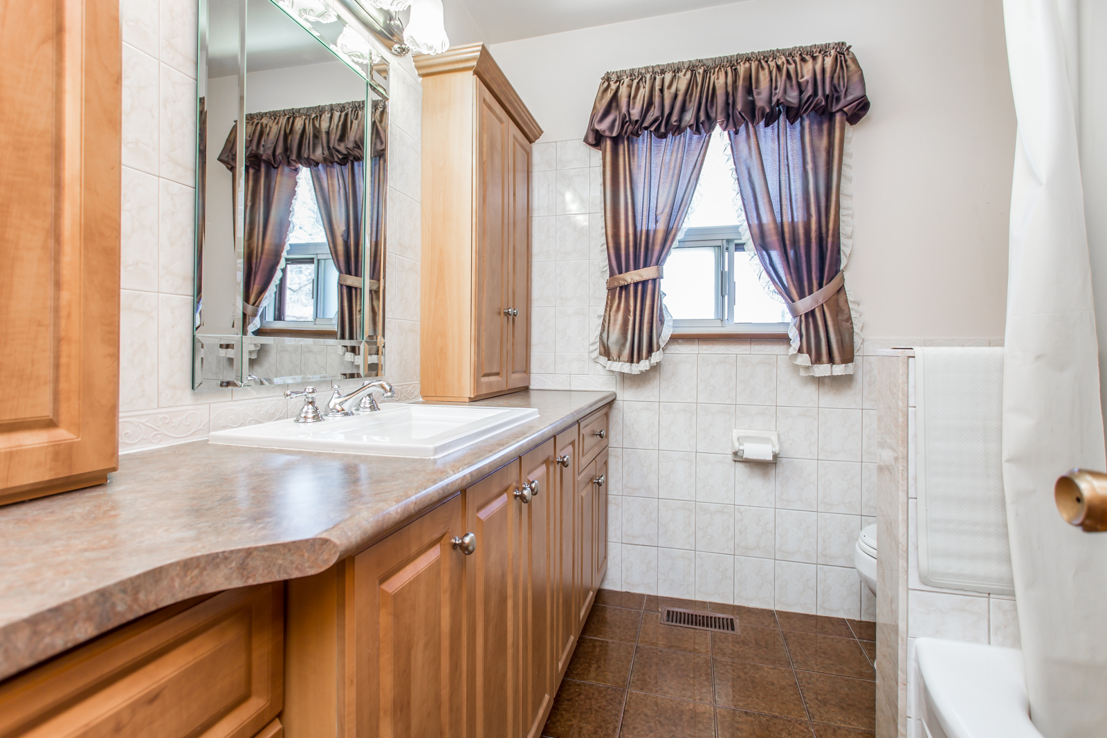Photo of one of the home's two washrooms.