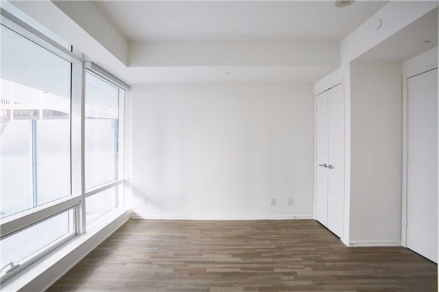 Photo of 1 Bloor Unit 3109 master bedroom. So much light pouring in from the rather huge windows.
