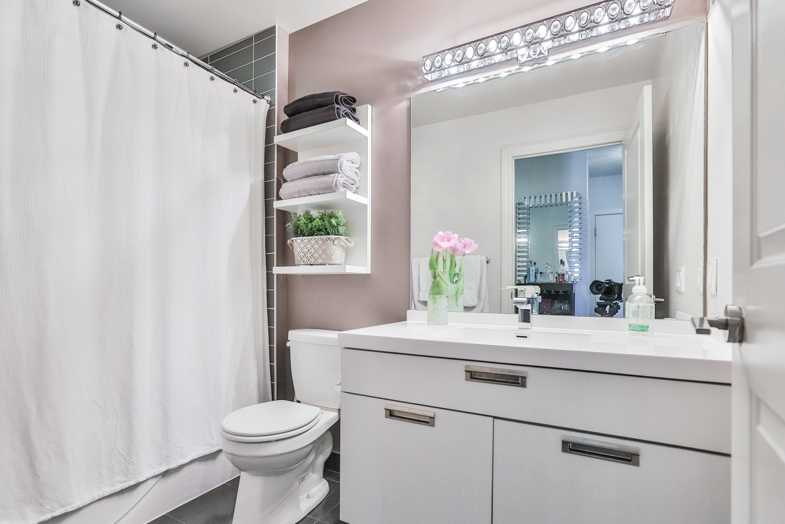 Image showing 28 Ted Rogers Way bathroom. It's rather simple yet beautiful.