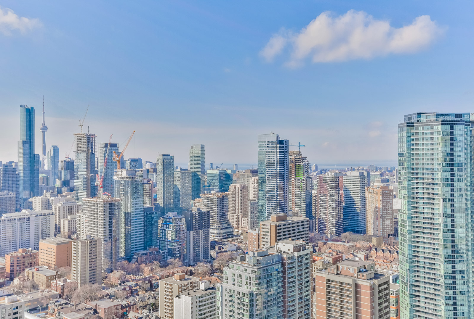 Picture of Toronto skyline, as seen from 28 Ted Rogers Way.