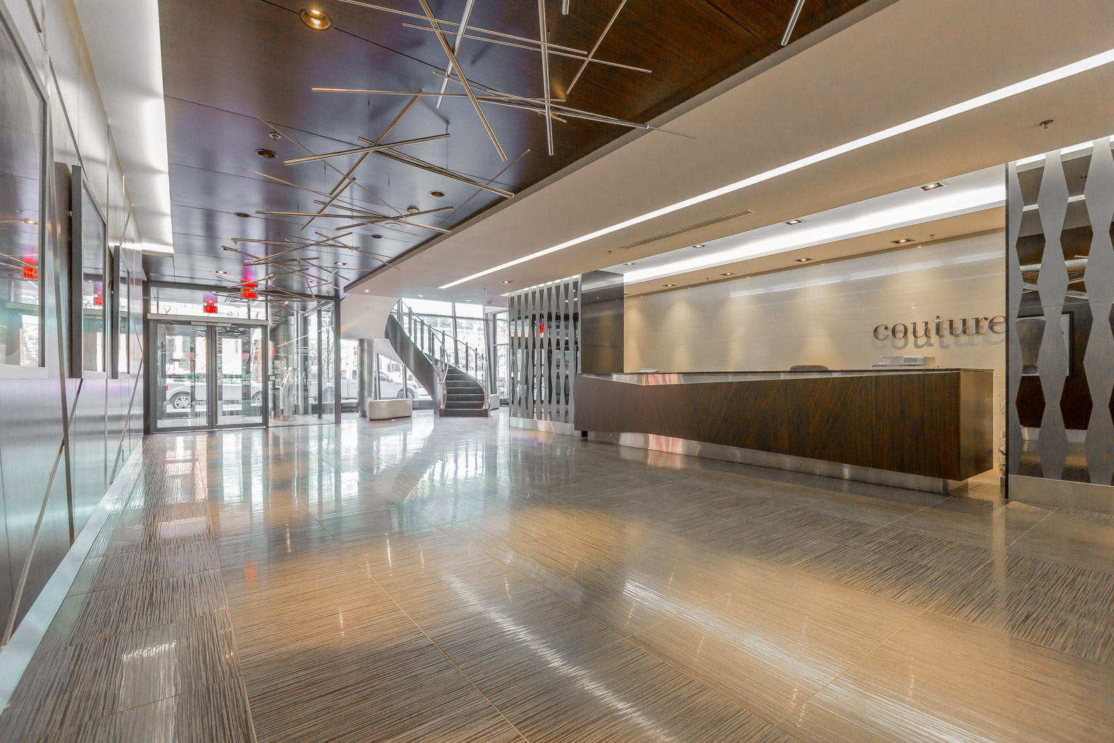 Photo of 28 Ted Rogers Way lobby. It looks so beautiful and artistic.