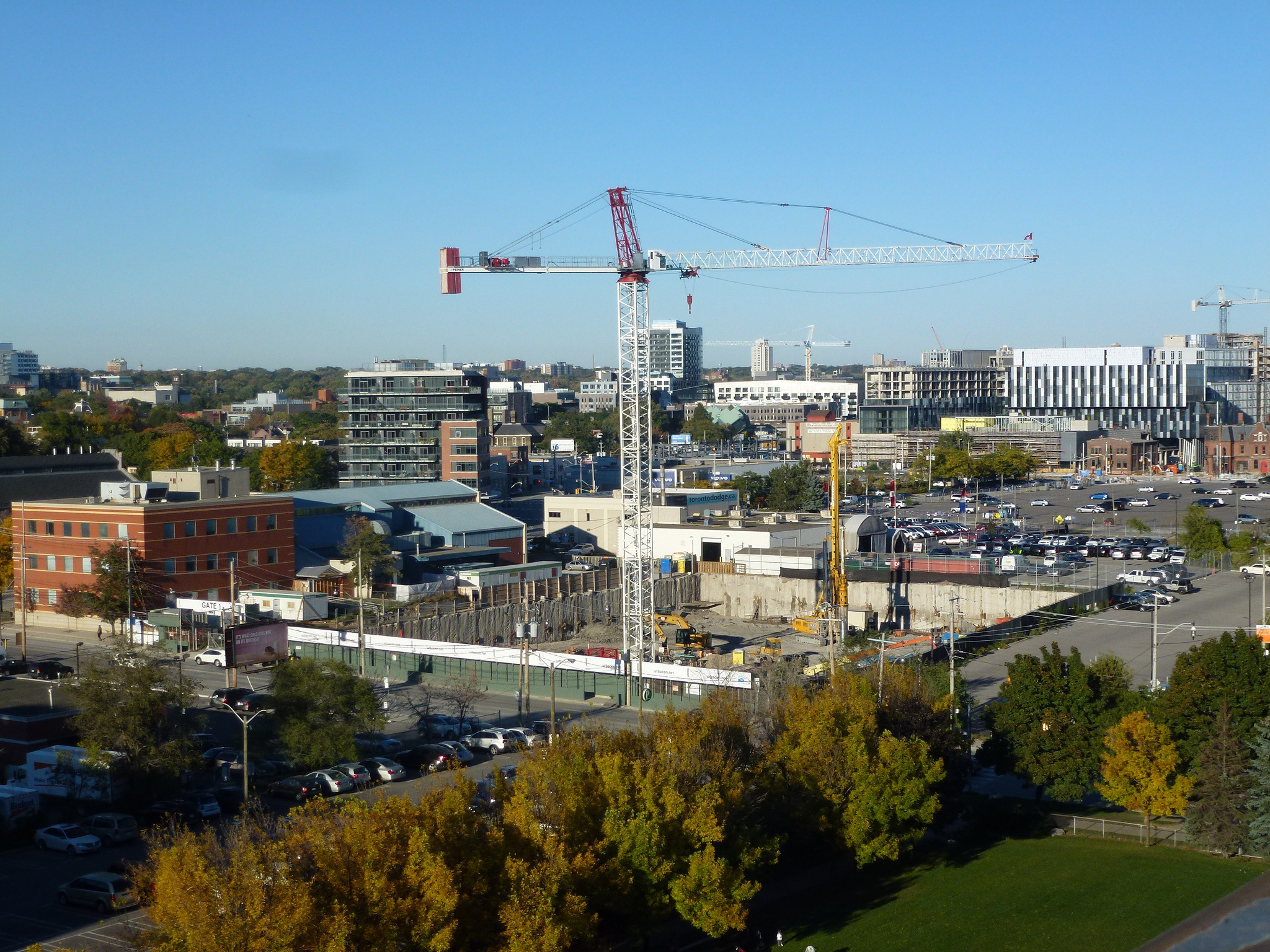 An image of the West Don Lands and construction.