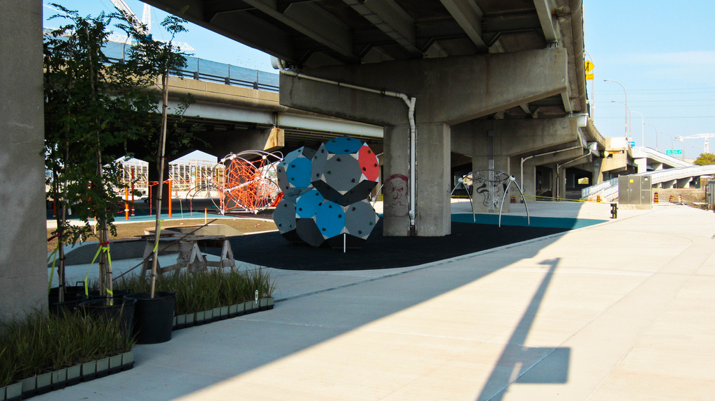 Pic of Underpass Park and its playground.