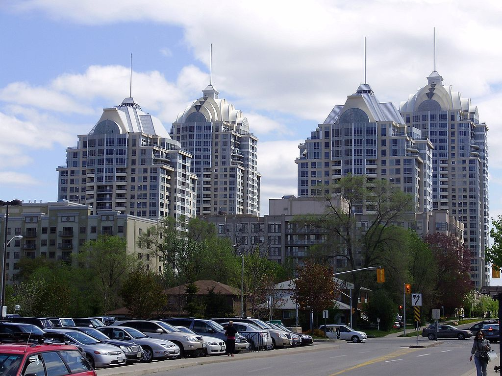 View of condos in distance.