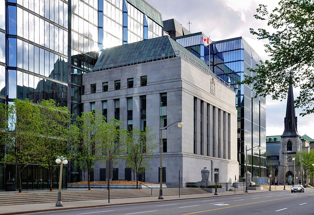 Image of Bank of Canada Building which is behind the rising interest rates.