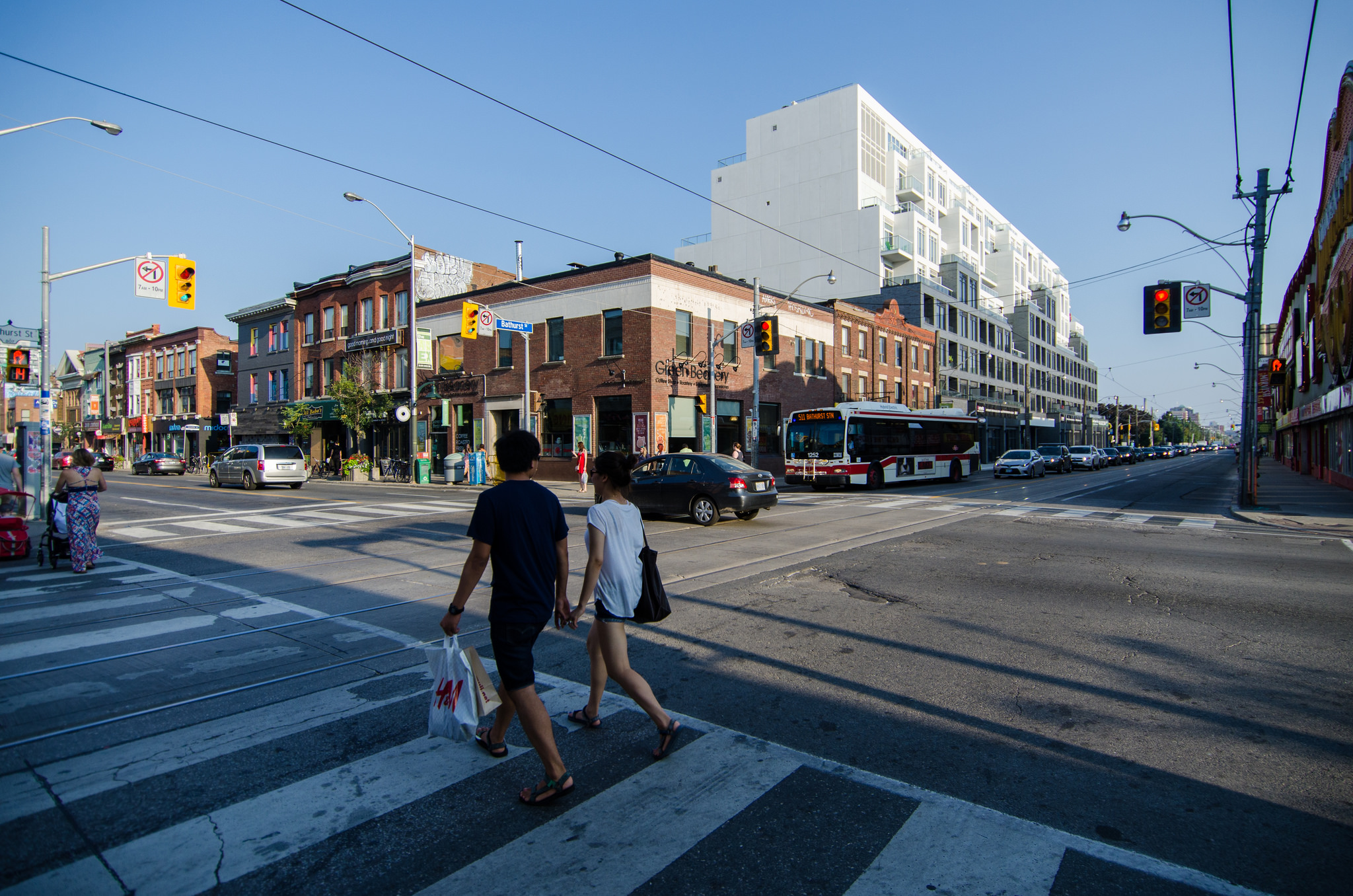 Photo of Bloor West streets and cars.