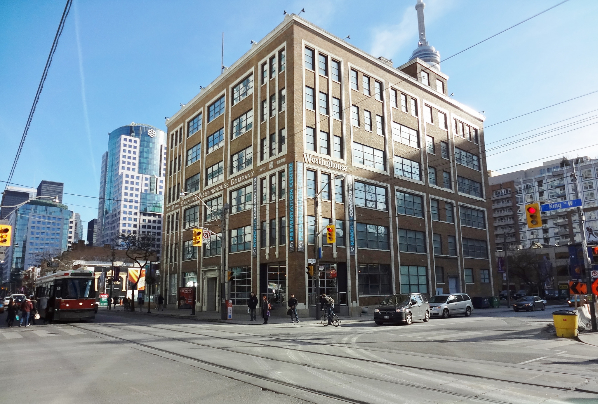 Photo of Westinghouse building on King West.