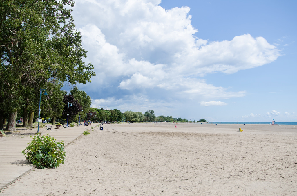 Woodbine beach in Toronto