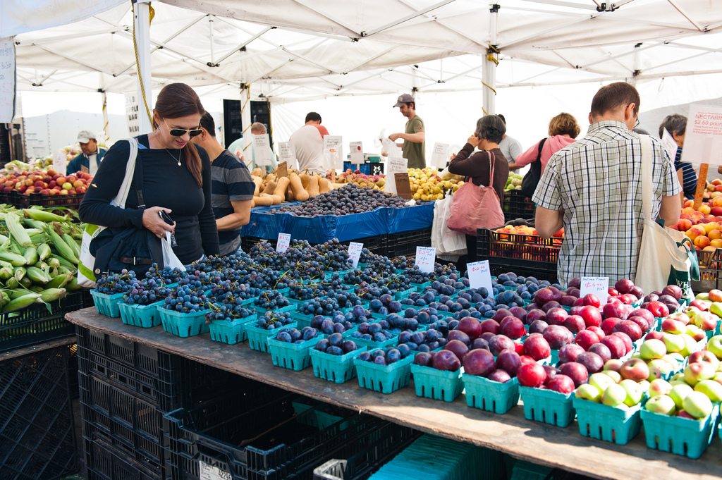 Photo of people shopping at Farmer's Market