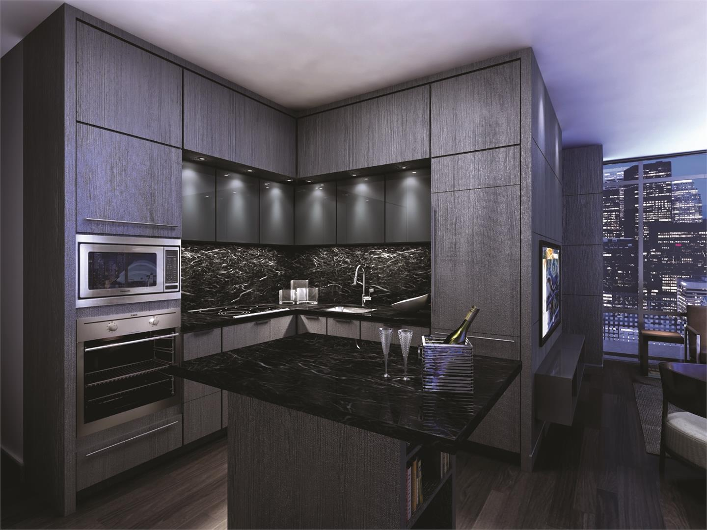 So here we see a 3d image of a typical King Blue kitchen.