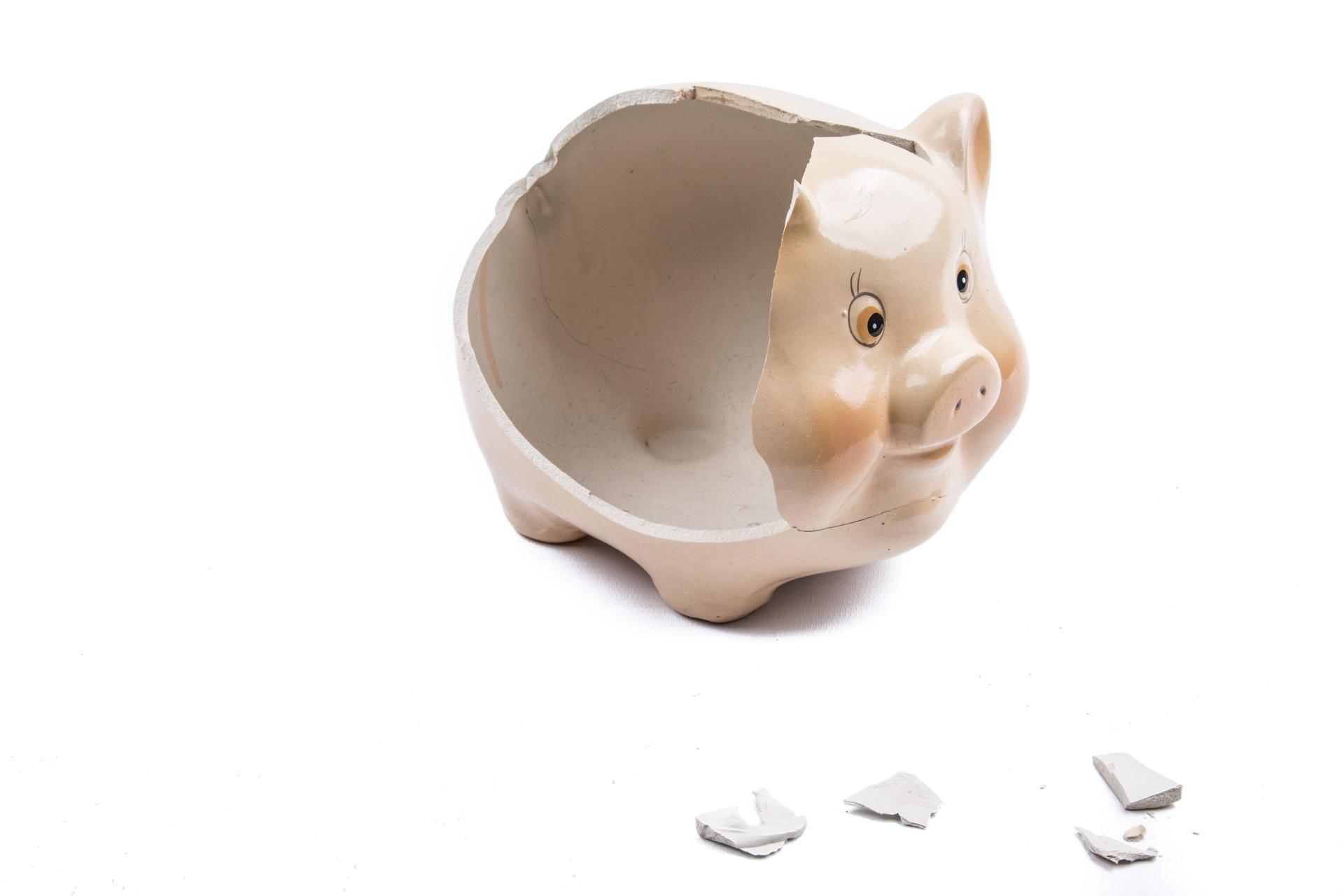 Broken piggy bank shows how home loans may become unaffordable