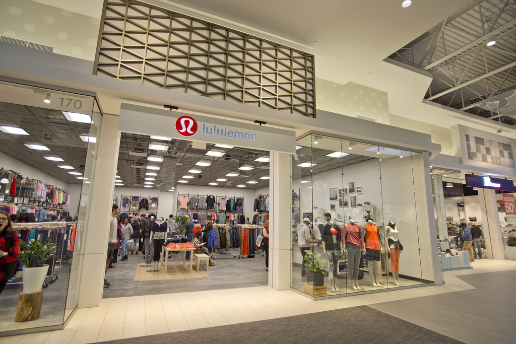 Lululemon storefront and clothes
