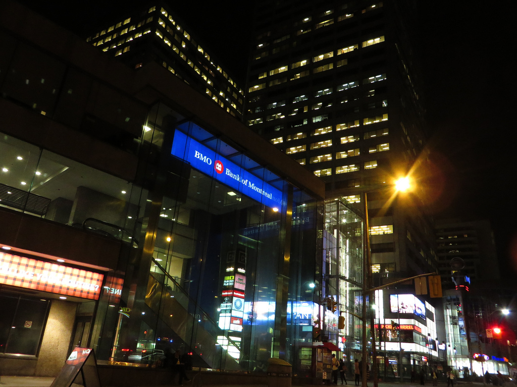 Photo of Yonge and Eglinton at night