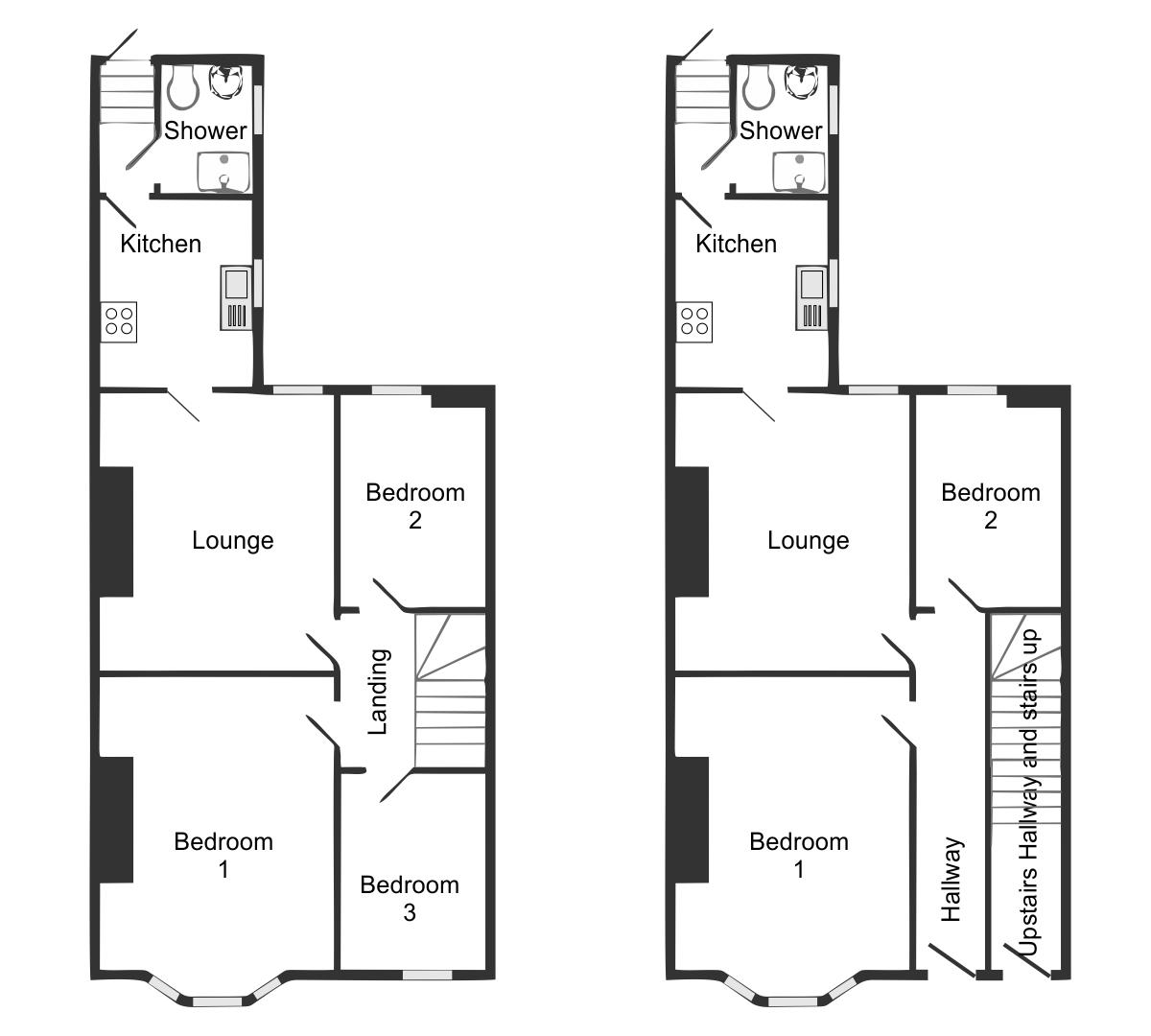 Simple floor plan for custom house