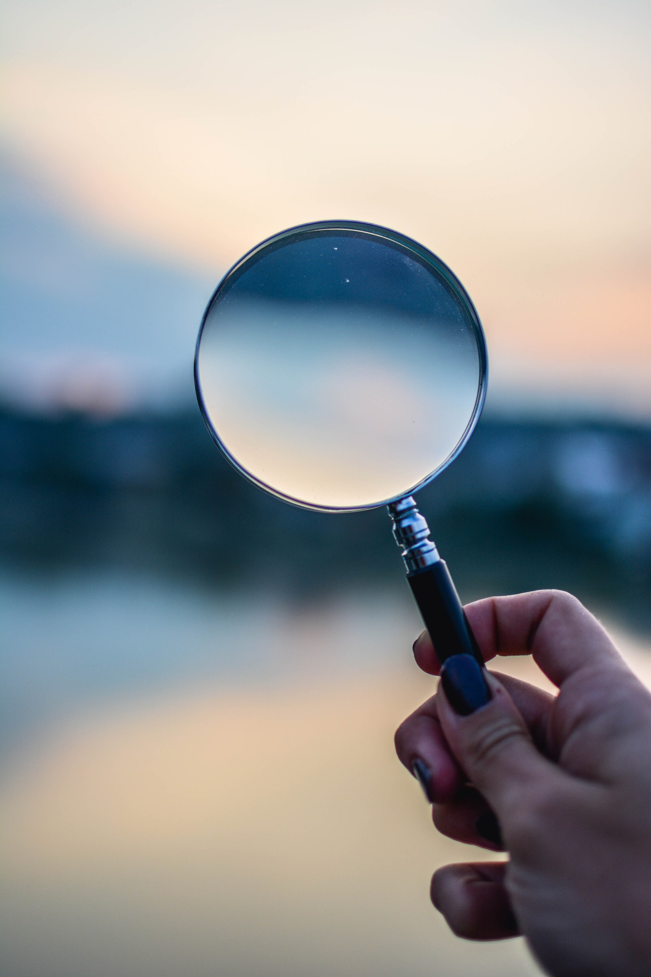 Magnifying glass; lesson is to look into developer history