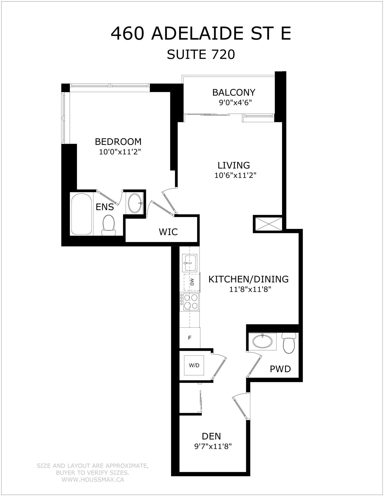 460 Adelaide St E, Unit 620's Floor Pl