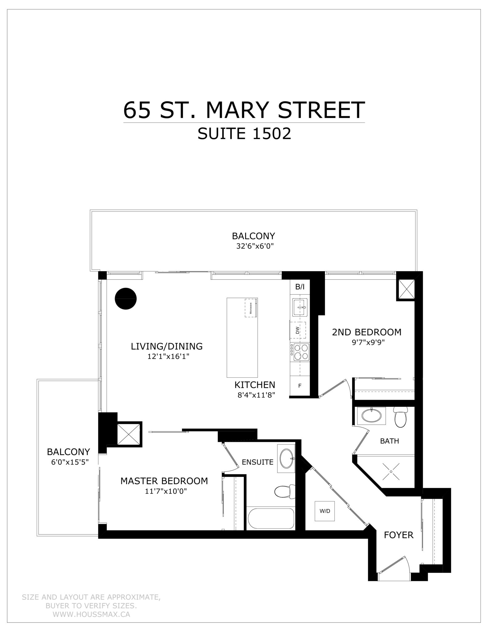 Floor Plans for 65 St Mary Street Unit 1502