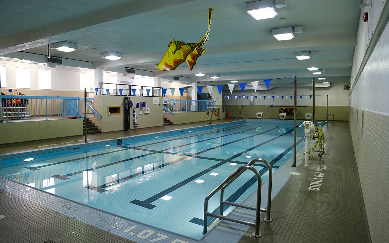 Indoor pool and kite at Moss Park community centre.