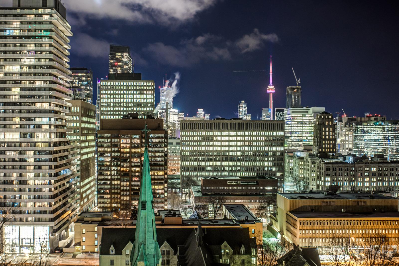 Photo of Toronto at night