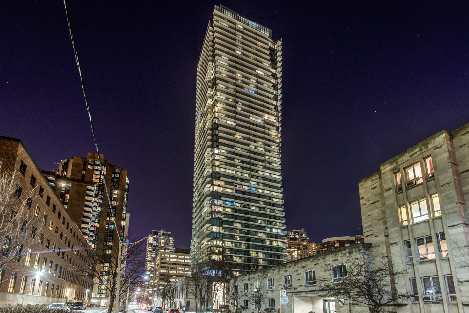 65 St Mary Street Toronto Ontario Exterior Night Shot