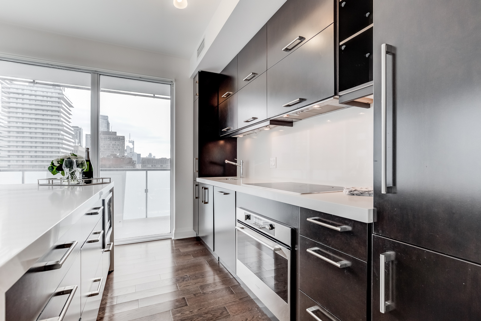 Kitchen and balcony shot