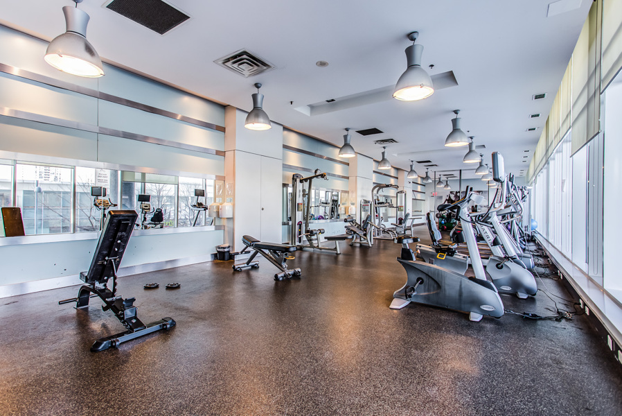 Photo of Arc Condos gym, one of its many amenities.