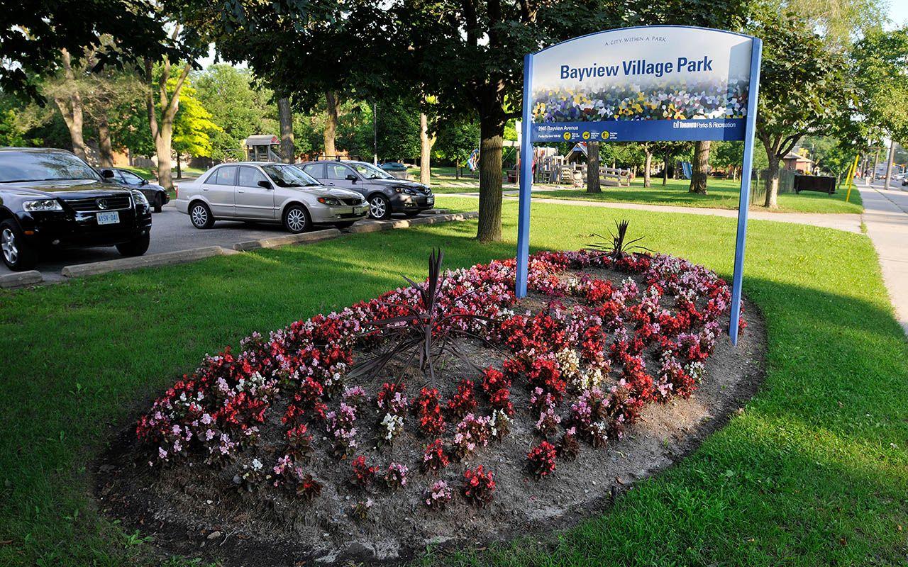 Bayview Village Park in North York Toronto
