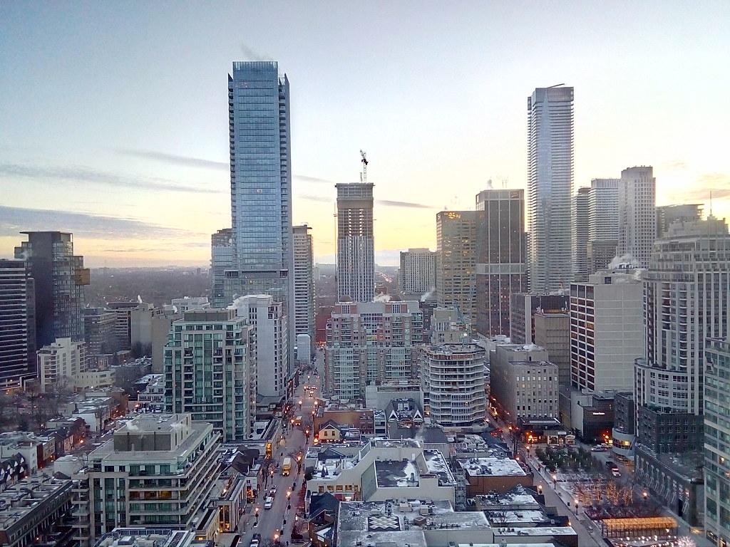 Bloor-Yorkville skyline in Toronto, Ontario.